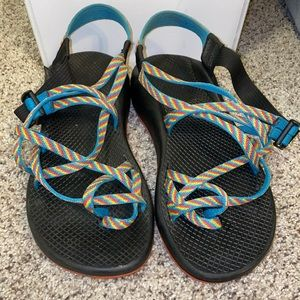 CHACOS two strap rainbow sandals